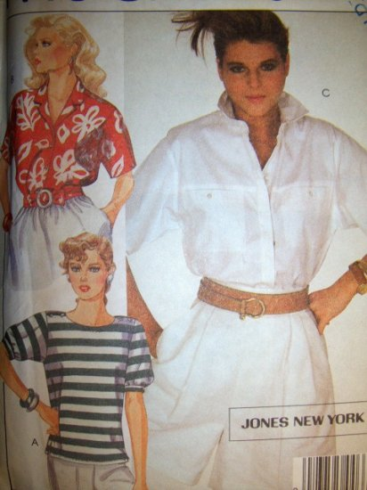 Jones of New York Set of Blouses, Top, McCalls 9079 Pattern, Size 14 Bust 36 Uncut