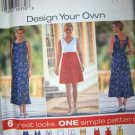 Simplicity Design Your Own 7651 Pattern, Dress, Plus Size 18, 20, 22 bust 40, 42, 44, UNCUT