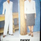 Designer DKNY Vogue 1743 Pattern Misses' Suit, Jacket, Skirt and Pants Size 8, 10, 12 Uncut