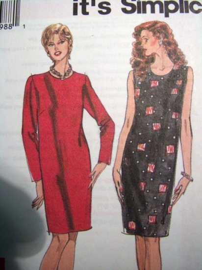 Simplicity So Easy 7945 Pattern, Dress, Size Multisized 8 to18, bust 31.5 to 40, Uncut