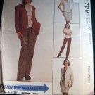 7091 McCalls Pattern, Unlined Jacket Vest Skirt & Pants Plus Size 20, 22, 24, bust 42, 44, 46, Uncut