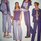 B 4083 Butterick Pattern, Misses Loungewear, Jacket, Tops & Pants Plus Size 16, 18, 20, 22, Uncut