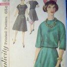 Vintage 1960s Simplicity 4115 Pattern Two Piece Dress, Size 14, Bust 34, Uncut