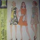 Vintage 1960s McCalls 9754 Pattern Misses Dress, Scarf or Sash, Size 10, Bust 32.5