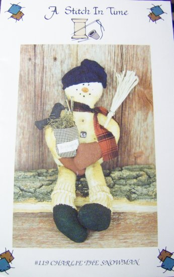 """A Stitch in Time Charlie the Snowman Doll Pattern 20"""""""