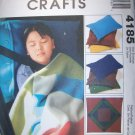 "McCall's 4185 Cozy Lap Quilt 54"" and Pillow Case 21# x 29#  UNCUT"