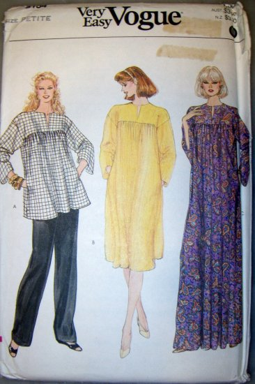 Very Easy Vogue 8154 sewing pattern, Dress Pants Top, Size 6, Bust 30.5, UNCUT