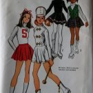Simplicity 5111 Cheerleader, Skating, Majorette Costumes, Jr Girls Size 9/10 Bust 30 1/2, UNCUT