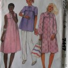 Vintage McCalls 7417 Misses Maternity Dress Top Pants, size 12, Bust 34, UNCUT