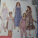 McCalls 5984 Maternity Pattern Misses Dress Jumper Top Pants Shorts