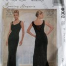 McCall's 9002 Pattern, Evening Elegance V Backless Formal Gown Fishtail Sz 16 18 20, Uncut