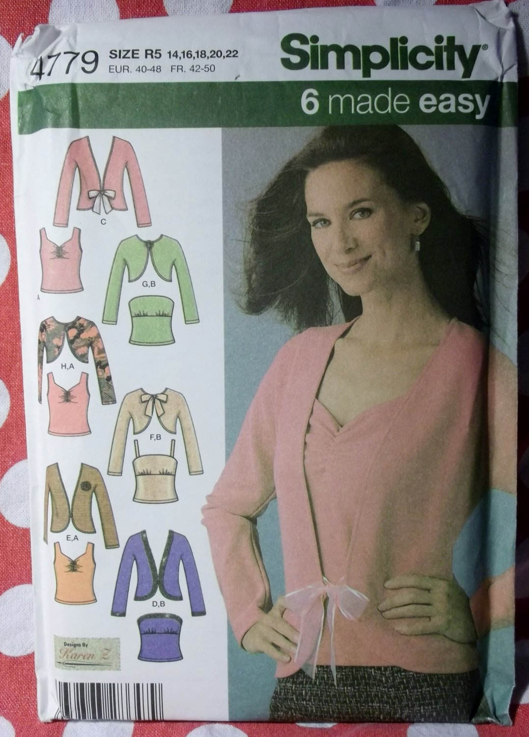 Simplicity 4779 Pattern, Misses Knit Twin Sets 6 Styles Size 14 to 22, UNCUT