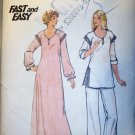 Butterick Fast and Easy 5701 Nightgown Pajamas, Pattern, Sz 8 10, Bust 31.5, 32.5, UNCUT FF