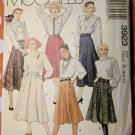 Vintage McCalls 3923 Pattern, Misses 6 Gore Panel Skirt, Sz 6 8 10, UNCUT
