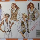 OOP Butterick 6714 Pattern, Misses Easy One Yard Vest, Sz 6 8 10 12, Uncut FF