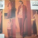 OOP Vogue Wardrobe 2673 Pattern, Misses Shirt Dress Top Pants Vest, Size 6 8 10,  UNCUT