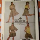 OOP Easy Jiffy Wardrobe Simplicity 8424 Pattern, Misses Shorts Skirt Top Jacket, Sz 6 8 10,  UNCUT