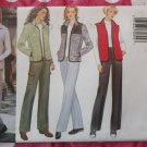 OOP Easy Butterick 6266 CLASSIC Pattern, Misses'  Vest, Jacket Pants,  Sz  8 10 12, UNCUT