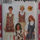 OOP Simplicity 7601 Beginners Choice Sewing Pattern, Misses Vest  Sz XS, S, M,  UNCUT