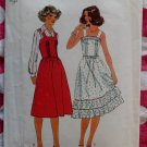Vintage Simplicity 8015 Sewing Pattern,  Misses Sun Dress or Jumper, Sz 14,  UNCUT