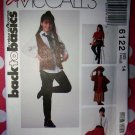 OOP Easy  McCalls 6122 Pattern, Girls Vest, Shirt, Skirt, Pants & Tie,  Sz 14, Uncut