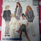 OOP Easy McCalls 6937 Pattern, Girl's Jacket Top Pants Shorts , Sz 10, 12, 14, UNCUT