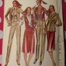 Vintage 70'S Butterick 3301 Pattern, Misses Jacket, Vest, Skirt, and Pants Sz 14, UNCUT
