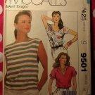 OOP Easy  McCalls 9501 Sewing Pattern, Misses 3 Pullover Tops, Sz 16, UNCUT