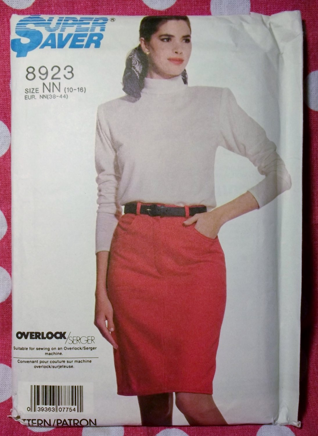 OOP Simplicity 8923 Pattern, Misses Skirt & Top, Sz 10 12 14 16, UNCUT