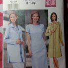 OOP Very Easy Butterick 6455 Pattern, Classic Misses Petite, Jacket & Dress, Sz 12 14 16, UNCUT