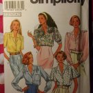 OOP Simplicity 8973 Pattern, Misses Blouse with Sleeve Variations, Sz 10 12 14 16 18, UNCUT