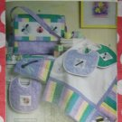 OOP VOGUE V7868 Pattern, Crafts Infant Quilt, Diaper Bag & Baby Bibs, UNCUT