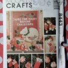 OOP McCall's 8443 Pattern, Christmas Ornaments Stockings, Wall Hanging, UNCUT