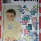 OOP Simplicity 9782 Pattern,  Baby Layette, XXS-M, UNCUT