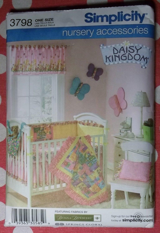 OOP Simplicity 3798 Pattern, Daisy Kingdom Nursery Accessories, UNCUT