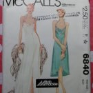 Bob Mackie Vintage McCalls 6840 Evening Halter Dress Pattern,  Sz 6, Uncut