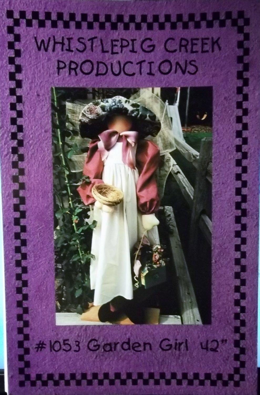 "Whistlepig Creek Productions 42"" Garden Girl Pattern #1053, Uncut"