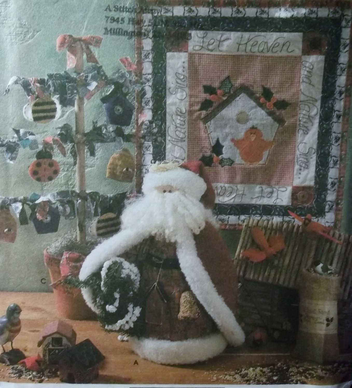 OOP Simplicity 7897 Christmas Folk Art Tree, Wall Hanging & Santa Pattern, Uncut
