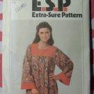 Vintage 70s Simplicity 8752 Misses Caftan Pattern, Sz 14 16 18 Bust 36 38 40, Uncut