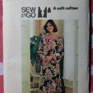 Vintage 70s Butterick 4578 Misses' Caftan Sewing Pattern, Sz Md, Bust 34-36, Uncut
