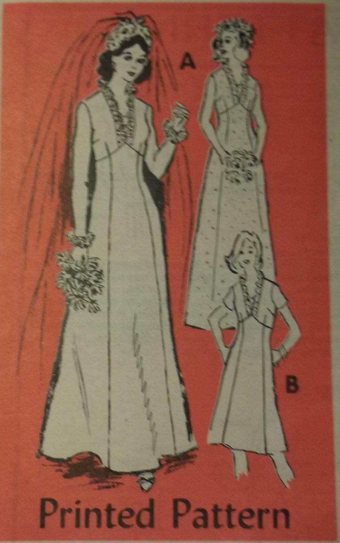 Vintage Annie Adams 4751 Pattern, Misses' Brides' or Bridesmaids' Dress, Size 14, Bust 36, Uncut
