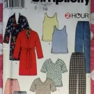 OOP Simplicity 0681 2 Hour Pattern, Unisex Robe, Knit Tank, Pants or Shorts, Sz XS to XL, UNCUT