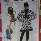 OOP Simplicity 9263 Pattern, Girls Jean Style Jacket, Top & Skirt, Sz 7 to 14, Uncut,