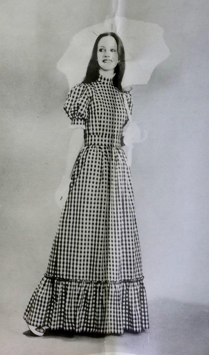 Vintage 70s Lillie London 7367 Pattern, Misses Prarie Style Dress, Sz 14, Uncut
