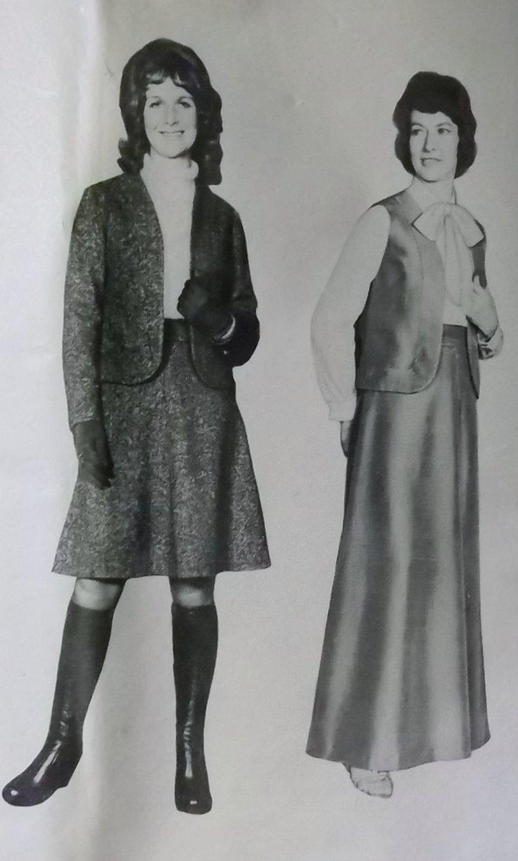 Vintage 70s People's Friend 7421 Pattern, Misses Blouse, Vest, Skirt, Sz 14, Uncut