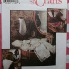 OOP Simplicity 8465  Lace & Embroidered Collars Pattern, Wax Transfers