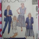 OOP Easy McCalls 4697 Pattern, Misses' Cardigan, Dress, Top, Pants and Shorts, Sz 14, Uncut