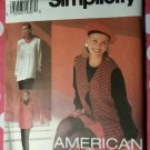 OOP Simplicity 8554 Classic Pattern, Misses' Pants or Shorts, Top or Vest, Sz 6 to 12, Uncut