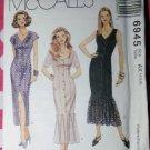 OOP  McCalls 6945 Misses'  Semi-fitted Dress Pattern,  Sz 4 6 8, Uncut