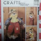 OOP McCalls 8388 Crafts Scarecrow Doll, Wreath and Wall Hanging Pattern, UNCUT